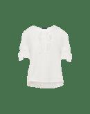 FRITILLERY: T-shirt avorio con volant