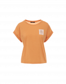 TIMELY: T-shirt in cotone arancio