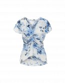 AFFAIR: Light blue and navy floral t-shirt