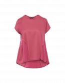 DAY-TO-DAY: Dusty pink multi-panel flare-out t-shirt