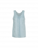 LONELY: Pale blue damask and plain tank