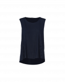 GLIB: Navy self-stripe vest top