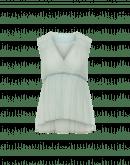 FONDNESS: Mint green seersucker georgette top