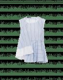 FLOUT: Peplum shirt top in striped cotton