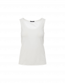 CURVE: Scoop neck tank in ivory cotton jersey
