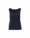 CURVE: Canotta girocollo in jersey di cotone blu navy