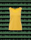 CURVE: Canotta girocollo in jersey di cotone giallo