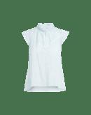 LOVELORN: Camicia con maniche ad aletta e colletto plissettato