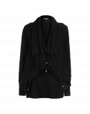 TIDINGS: Scarf-collar cardigan