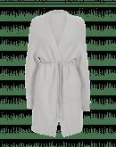 QUIETEN: Cardigan lungo grigio chiaro