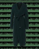 PLUMMET: Cardigan lungo verde scuro in alpaca misto lana