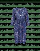 VIBRANT: Abito a tunica con motivo floreale color blu navy