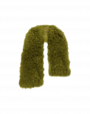 ALLURING: Luxury scarf in green dyed curly shearling