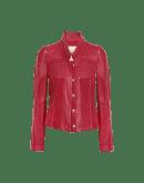 TIP-OFF: Rote Leder- und Wildlederjacke