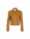 COVERT: Caramel leather and suede jacket