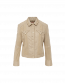 "INCLINE: Jeans style"" jacket in beige leather and suede"