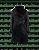 TEMPESTUOUS: Cappotto multi texture in shearling nero