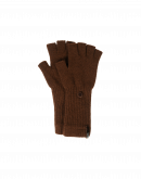 POINTER: Cocoa knitted cashmere fingerless gloves