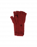 POINTER: Red knitted cashmere fingerless gloves