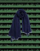BLIZZARD: Sciarpa blu navy in lana misto seta