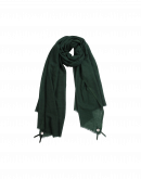 BLIZZARD: Green wool and silk mix scarf