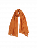 BLIZZARD: Orange wool and silk mix scarf