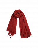 BLIZZARD: Sciarpa rossa in lana misto seta