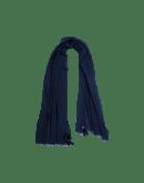 EFFORTLESS: Sciarpa in misto cashmere blu navy