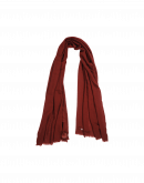EFFORTLESS: Red cashmere mix scarf