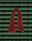 EFFORTLESS: Sciarpa in misto cashmere rossa