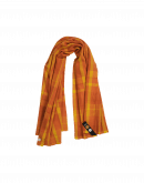 BLAZE: Orange and yellow check scarf