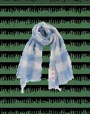 BOUNTY: Karierter Schal in Cremefarbe und Hellblau