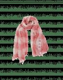 BOUNTY: Sciarpa a quadri color crema e ocra pallido