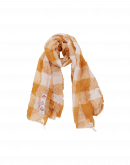 BOUNTY: Cream and pale pink super-fine wool scarf