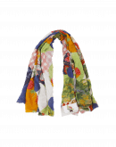 INVENTIVE: Circular patchwork print scarf