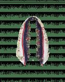 QUAINT: Fazzoletto da collo blu e bianco con motivo floreale