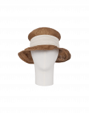 "LEISURELY: Boho"" style hat in brown"