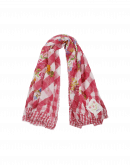 TERRIFIC: Cream and pink check with floral scarf