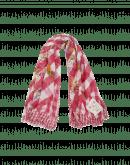 TERRIFIC: Sciarpa a quadri crema e rosa con stampa floreale