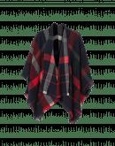 SHUDDER: Scialle-gilet scozzese in lana e cashmere