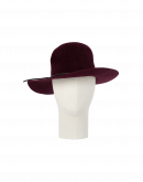 BRIMFUL: Wide brim hat in burgundy wool felt