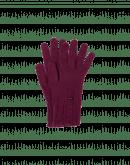 TWITCH: Gestrickte, burgunderfarbige Handschuhe