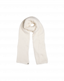 FROSTY: Scarf in ivory wool mix