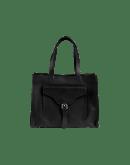 RETRIEVE: Shopper aus schwarzem Leder
