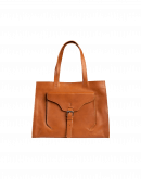 "RETRIEVE: Burgundy leather ""shopper"" bag"