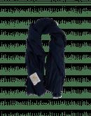 WRAP-AROUND: Sciarpa in lana sgualcita blu navy
