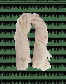 WRAP-AROUND: Sciarpa in lana sgualcita crema