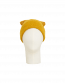 LIKELIHOOD: Berretta giallo ocra in misto lana con pompom