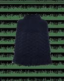 FIASCO: Poncho in maglia di lana blu navy