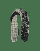 OVERSHADOW: Sciarpa stampata in lana e seta